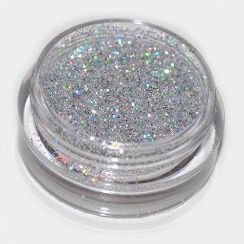 Silver Laser Eye Shadow Loose Glitter Dust Body Face Nail Art Party Shimmer Make-Up by Kiara H&B