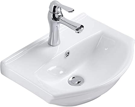 Renovators Supply Tahoe Small Wall Mounted Bathroom Sink 17 75 Inches White Ceramic Arc Basin Gloss Porcelain Floating Wall Hung Vessel Sink Space Saving Vessel With Overflow And Single Faucet Hole Amazon Com