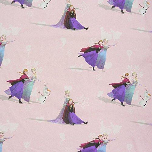 Disney Die Eiskönigin Frozen rosa Gardinenstoff Stoff Dekostoff Meterware
