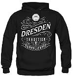 Mein leben Dresden Kapuzenpullover | Freizeit | Hobby | Sport | Sprüche | Fussball | Stadt | Männer | Herren | Fan | M1 Front (L)