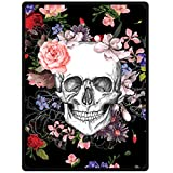 Skull Blanket, 60' x 80' Blanket Comfort Warmth Soft Cozy Air Conditioning Skull Fashion Fleece Blanket Perfect for Couch Sofa or Bed