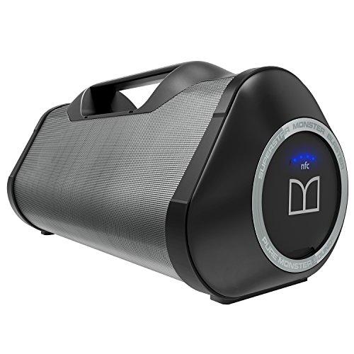Monster Blaster 2.1 System Cilindro Negro, Gris - Altavoces portátiles (2.1 Channels, Inalámbrico, Bluetooth/3.5mm/USB, Bluetooth, 3,5 mm, 2.1 Portable Speaker System)