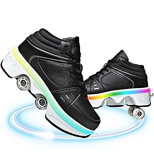 Recargable Unisex Led Luz Automática De Skate Zapatillas con Ruedas Zapatos Patines Deportes Zapatos para Niños Niñas