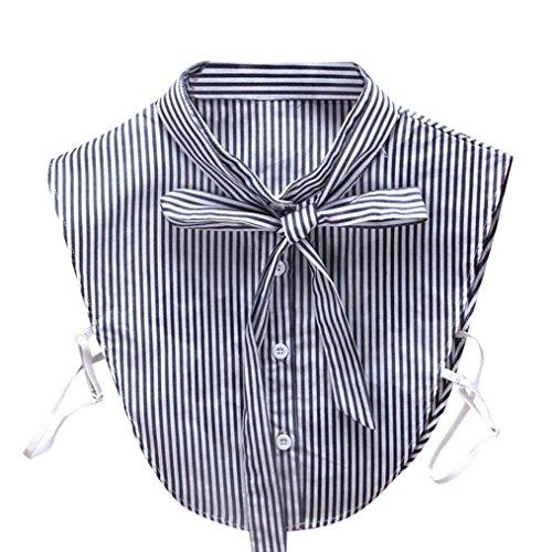 TUDUZ Damen Frauen Vintage Choker Halskette abnehmbare Revers Shirt gefälschte falsche Kragen (L)