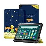 OLAIKE Funda Solo para la Nueva Tableta Kindle Fire HD 8 y la Tableta Fire HD 8 Plus (10a generación, versión 2020), Cubierta de Soporte Triple con Reposo / activación automático,El niño y el Zorro