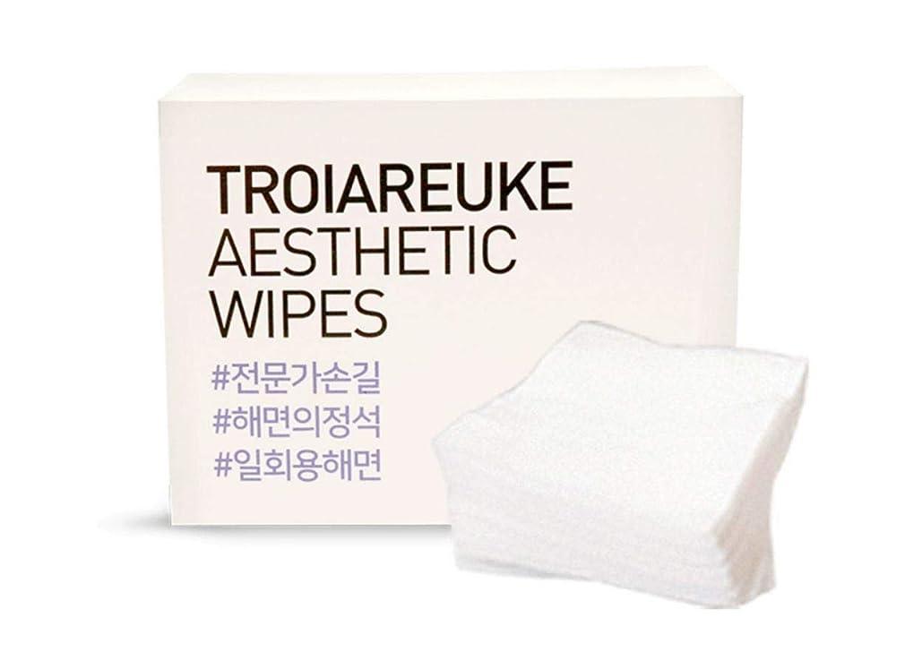 オゾン億義務TROIAREUKE (トロイアルケ) エステティック 海綿 コットン/Aesthetic Wipes (100枚)