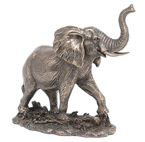 Men will love this traditional bronze elephant statue for a 8th anniversary gift idea