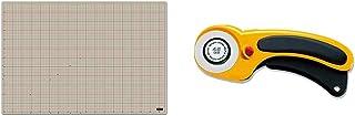 オルファ(OLFA) カッターマットA1 (620x900x2mm) 160B & セーフティロータリカッター L型 156B【セット買い】