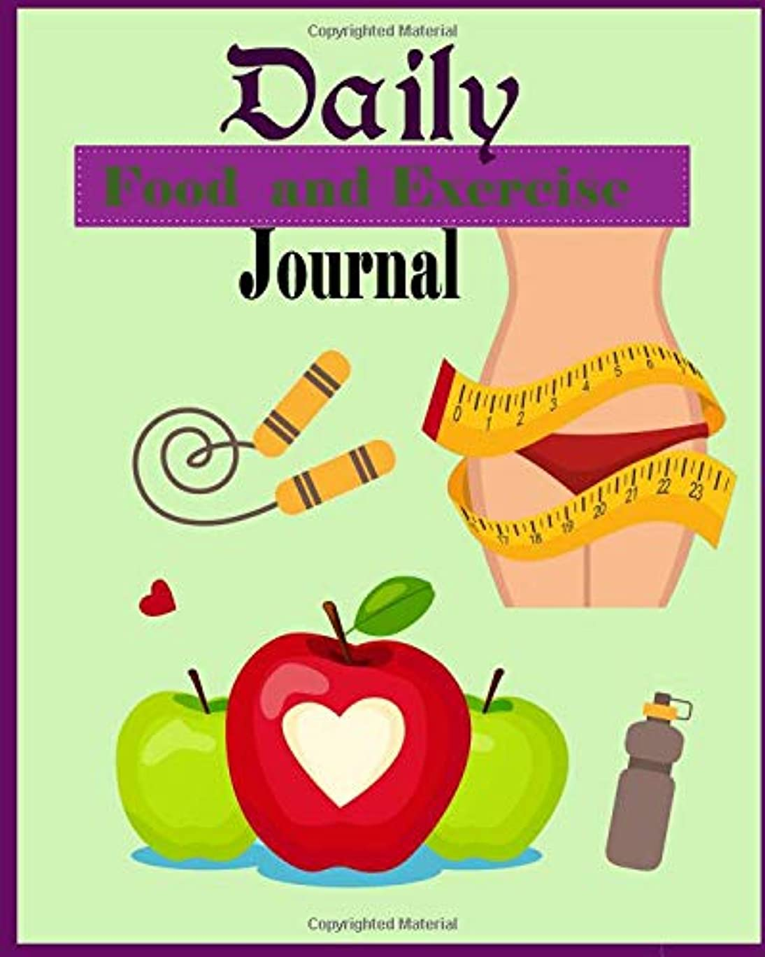 死ぬ深める一時解雇するDaily Food and Exercise Journal: 90 days Track and Plan your Diet and Exercise , Meal Planner , Weight control log Book