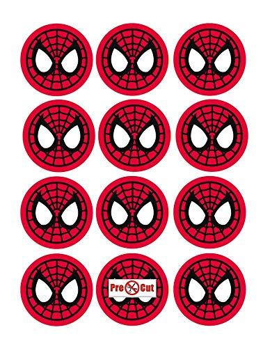 35 x Voorgesneden Spiderman Taart, Cupcake Toppers/Decoraties Eetbaar Wafer Papier
