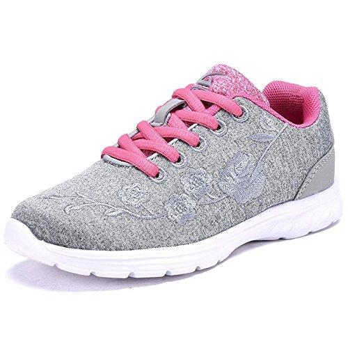 Dream Seek Geers Girls Fashion Sneaker Grey 2