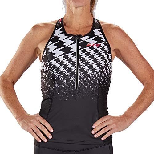 Zoot Damen Ultra Triathlon Sport Tank ohne Ärmeln, integriertem BH, 4 Rückentaschen und DRAGZERO Textilien für noch mehr Aerodynamik Größe M