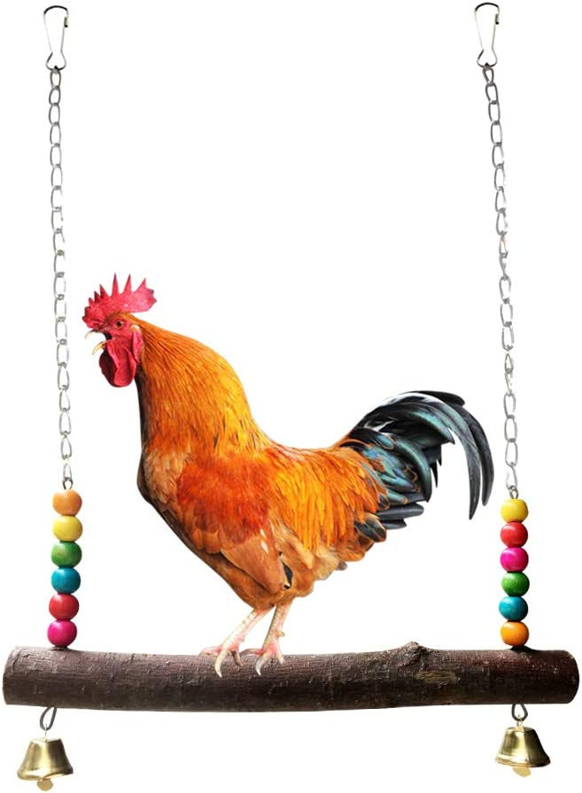Soeenaper Chicken Swing Toy for Hens Hand Easy-to-use Natural 25% OFF Wooden