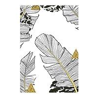 LIUYUEKAI 黒と白の植物緑の金の葉キャンバス絵画プリントポスター寝室のリビングルームの装飾のためのモダンなミニマリストの写真-40x60cmフレームなし