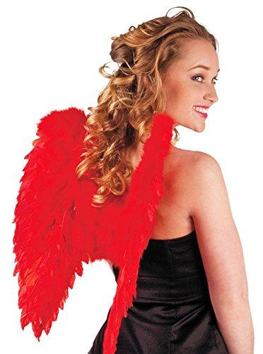 Das Kostümland Engelsflügel Federn 50 x 50 cm Rot