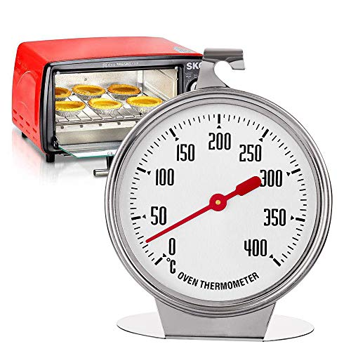 ARRIVEOK 0-400 Degree Kitchen Oven Thermometer Stainless Steel Pratical High-grade Measuring New Baking Tool