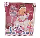 Dimian BD1338 - Puppe Molly Ballerina mit Sound, 40 cm