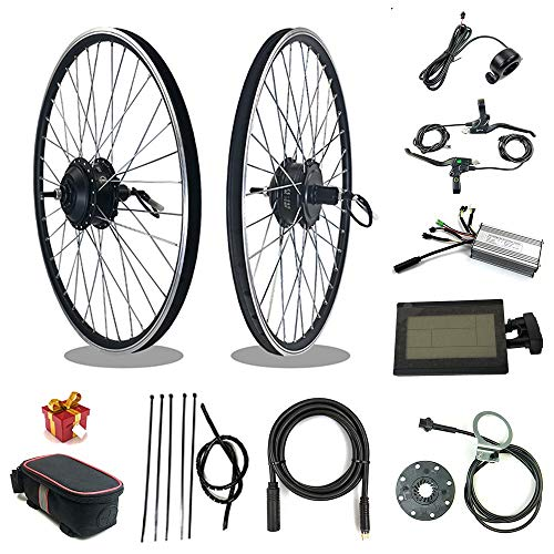 RICETOO Electric Bicycle Conversion Kit 36V48V 500W Rear Cassette Motor Wheel with Optional 16 20 24 26 27.5 28 Inch 700C Rim KT-LCD3 Display KT-22A Controller E-bike Kit (36V 500W 700C)