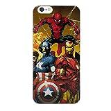 iPhone 5/5s Comique Étui Rigide pour Téléphone / Coque pour Apple iPhone 5s 5 SE / Protecteur D'écran et Chiffon / iCHOOSE / Spiderman, Cpt America, Iron Man