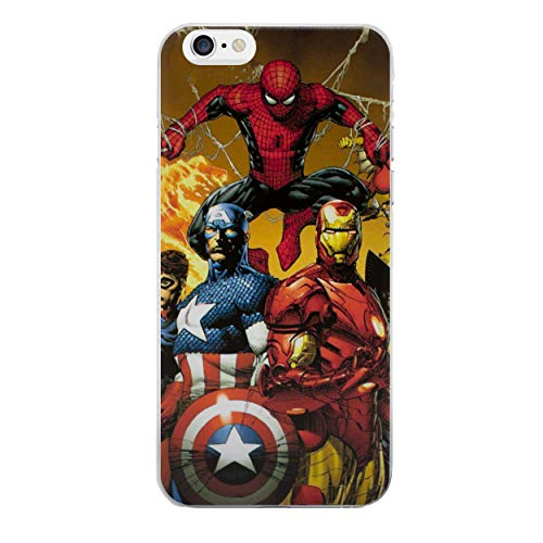 iPhone 6/6s Cómic Carcasa de Telefono / Cubierta para Apple iPhone 6s 6 / Protector de Pantalla y Paño / iCHOOSE / Spiderman, Cpt América, Iron Man