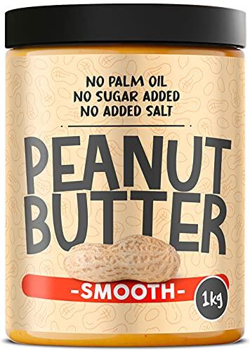 Burro di Arachidi Proteico Senza Zuccheri ● 1kg Peanut Butter Smooth Qualità Italiana ● Burro d'Arachidi 100% Naturale Senza Olio di Palma Degrassato ● Crema Proteica di Arachidi Spalmabile