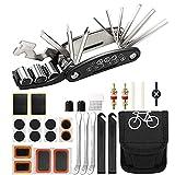 ETUKOAN Kit Attrezzi per Bici, 16 in 1 attrezzo Multifunzione da Bici con Kit di Patch e Leve del Pneumatico Attrezzi per Riparazione della Bicicletta, Kit di Attrezzi per la Riparazione di Bici