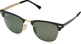 Women's Rb3716 Clubmaster Metal Square Sunglasses
