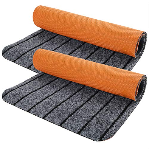 Door Mat Outside Inside with Non-Slip Rubber Backing, 2-Pack 17  X 30  Doormat for Entrance Way Outdoor Indoor, Entryway Rug, Home Floor Mat, Easy Clean, Machine Washable, Low Profile, Super Absorbent