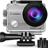 Crosstour Caméra Sport 4K Wi-FI Ultra HD Étanche 2' LCD 30M sous-Marine 170° Grand-Angle avec 2 Batteries Rechargeables 1050mAh...