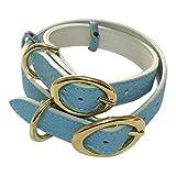 トリヨン シュリンク 首輪 AT01-BA-C01 ブルー XXS サイズ