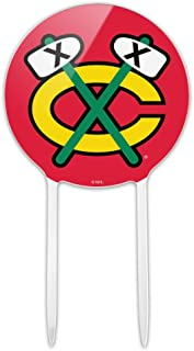 GRAPHICS & MORE Acrylic NHL Chicago Blackhawks Fan Cake Topper Party Decoration for Wedding Anniversary Birthday Graduation