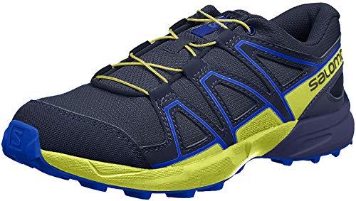 Salomon Speedcross Jr Hiking Shoe - Boys' Ombre Blue/Sulphur Spring/Nautical Blue, 6.0