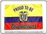 Ecuador Ecuadorain Flagge, Wanddekoration, mühelosaufzuhängen, Wohnkultur, Autos, Zimmer, Wände, Schlafsäle, Büro, Arbeit, Studios, hochwertiges Banner, Zubehör für drinnen & draußen (Ecuador 0z0)