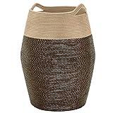 TECHMILLY Extra Large Laundry Hamper Woven Tall Basket (99L) Modern Hamper for Closet, Bedroom, Bathroom, Dorm, 25.6' Height