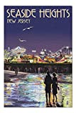 Promini Seaside Heights, New Jersey - Pier at Night - 1000 Piece Jigsaw Puzzles for Adults Kids, Puzzles for Toddler Children Learning Educational Puzzles Toys for Boys and Girls 20' x 30'