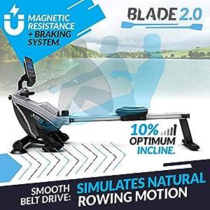 Bluefin Fitness Blade zusammenklappbares Rudergerät für Dein Heim-Gym | Rudergerät mit Magnetwiderstand | Kinomap | Live-Video-Streaming | Video-Coaching & -Training