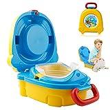 Homealexa Vasino Portatile Bambini da Viaggio Piccolo Gabinetto Toilette Riutilizzabile Sedile WC Bimbi Pieghevole per Imparare a Usare Vasino