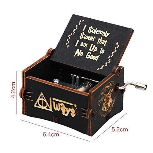 FGHFG Harry Potter Spieluhr Kinder Spieluhr für Erwachsene Holz geschnitzt Handspielzeug ist das beste Geschenk für Kinder
