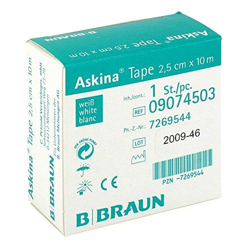 Askina Tape weiß 2,5cm