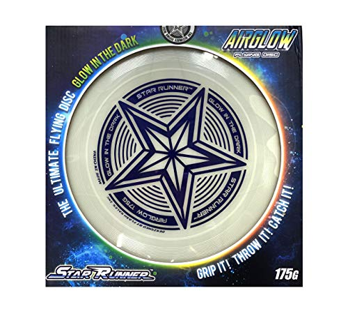 175g Glowing Flying Disc by SLR Brands: 175 gram Star Glow in the Dark Toy for Kids, Adults, Ultimate, Dogs