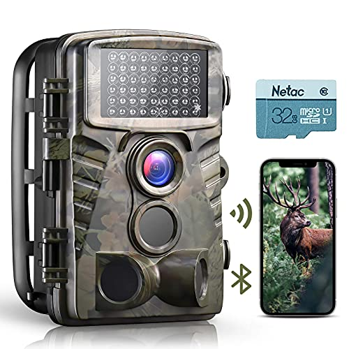Dsoon WiFi Trail Camera 4K 32MP Bluetooth Game Camera Send Pictures to...