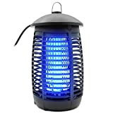 Blacklonia Bug Zapper for Outdoor and Indoor, Waterproof Insect Fly Pest Attractant Trap Mosquito Zappers Electric Mosquito Killer Lamp for Backyard, Patio, Kitchen, Office, Home (Black)