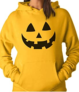 Tstars - Halloween Pumpkin Face - Easy Costume Fun Smiling Head Women Hoodie