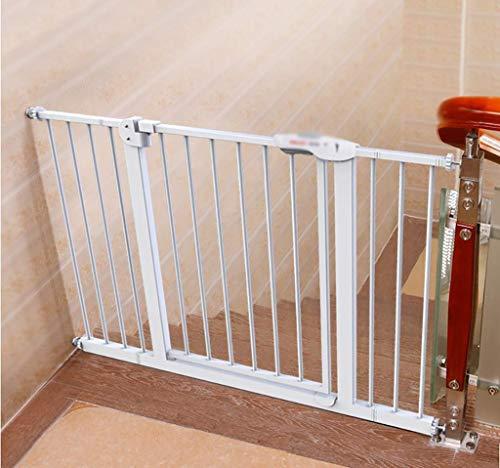 NMDCDH Dongyd Safety Gates Treppensperre Baby- und Haustiertor ausziehbar, automatische Schließung, Zwei Richtungen, Druckhalterung für Räume zwischen 66 und 194 cm (Größe: 75 bis 84 cm)
