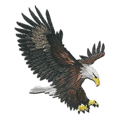 Adler Vogel fliegt - Aufnäher, Bügelbild, Aufbügler, Applikationen, Patches, Flicken, zum aufbügeln, Größe: 6,3 x 5,5 cm
