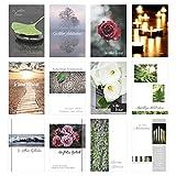 Edition Seidel Set 12 einfühlsame Trauerkarten / Beileidskarten mit Umschlag. Trauerkarte Beileidskarte mit Spruch (Doppelkarten/Klappkarten mit Briefumschlag)