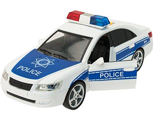TEOREMA Coches con Luces y Sonidos (Escala 1:16) Coche de policía con Luces y Sonidos a Escala de 1:16