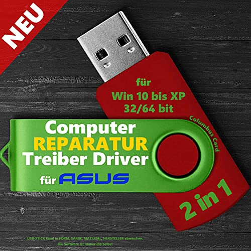NEU: Treiber Software USB STICK passend zu ASUS für Windows 10 8 7 XP Vista PC REPARATUR 2021 NEU
