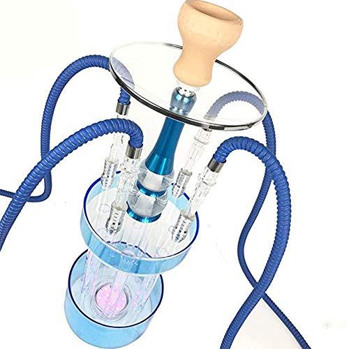 Mr. Hao Huka Shisha Set Sheesha Voll Acryl Wassersäule mit LED-Licht (4 Schläuche)