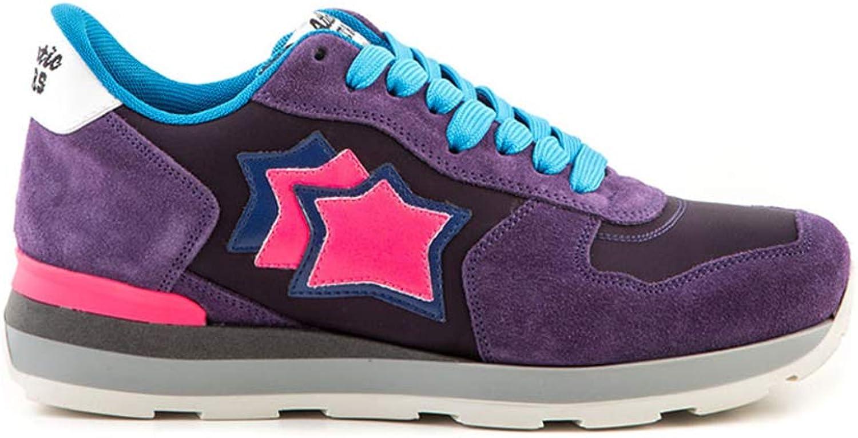Atlantic Stars Turnschuhe Damen - Vega Dark lila - Ginnastische Schuhe Farbe Lila Schwarz